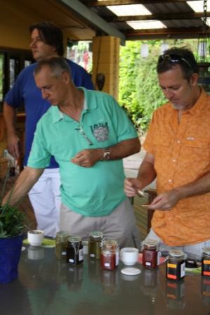 Philip Mitchel Alistair MacFarlane & Craig Squire tasting at Village Herb Farm